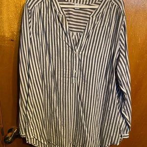 Old Navy half button stripped top